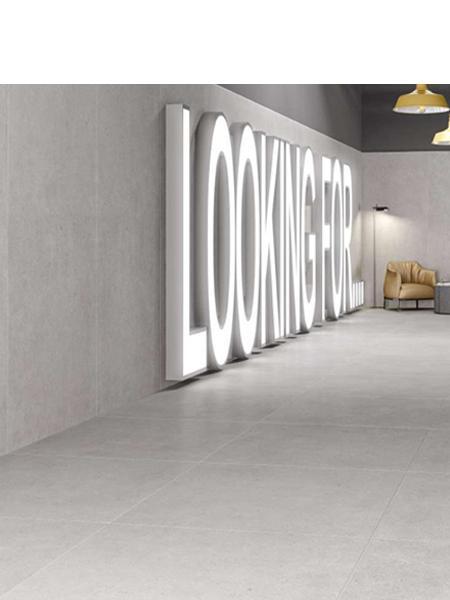 Pavimento porcelánico rectificado Atrio Grey 60x60 cm. Un pavimento imitación cemento de primera calidad especial para interiores y lugares públicos