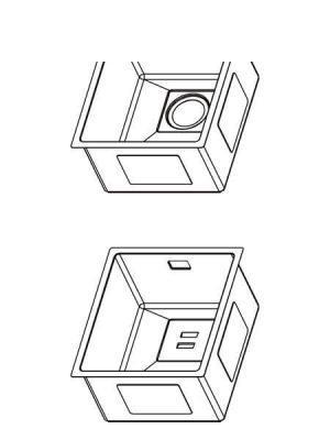 Fregadero de Acero Inoxidable Onix Pro 352×412 mm 1 seno
