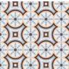 Pavimento imitación hidráulico Beltri Celeste 20x20 cm. Diseños del pasado con tecnología del presente, azulejo para paredes y suelos vintage.