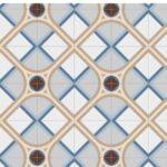Pavimento imitación hidráulico Montaner Azul 20x20 cm. Diseños del pasado con tecnología del presente, azulejo para paredes y suelos.