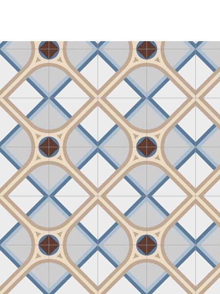 Pavimento imitación hidráulico Montaner Azul 20x20 cm (1 m2/cj)