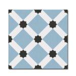 Pavimento imitación hidráulico Palau Celeste 20x20 cm. Diseños del pasado con tecnología del presente, azulejo para paredes y suelos.