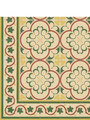 Pavimento imitación hidráulico Gaudí-2 20x20 cm. Diseños del pasado con tecnología del presente, azulejo para paredes y suelos.