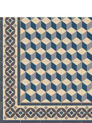 Pavimento imitación hidráulico Güell-2 20x20 cm. Diseños del pasado con tecnología del presente, azulejo para paredes y suelos.