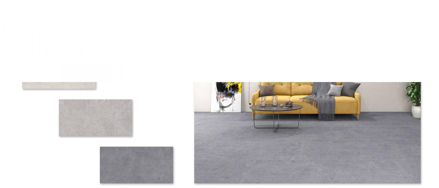 Pavimento porcelánico imitación cemento Atrio Mykonos