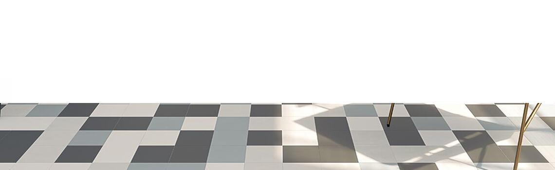 Pavimento porcelánico Alameda-R Nácar 20x20 cm. Una serie de azulejos efecto hidráulico.