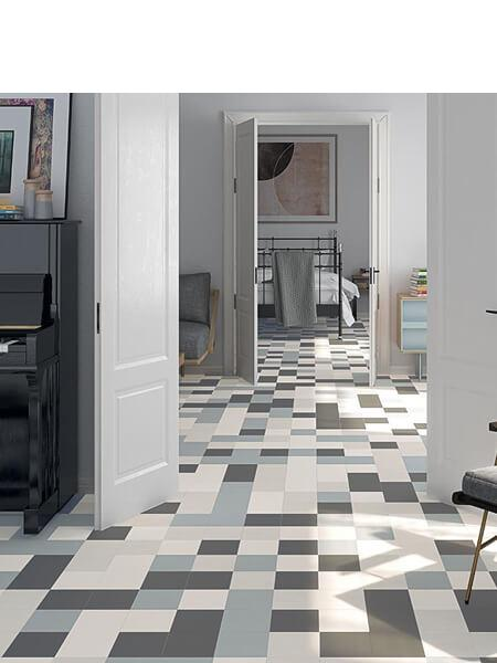 Pavimento porcelánico Alameda-R Antracita 20x20 cm (1 m2/cj)