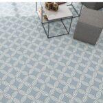 Pavimento porcelánico Andrássy-R Cielo 20x20 cm. Una serie de azulejos efecto hidráulico.