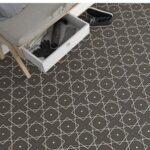 Pavimento porcelánico Elíseos-R Grafito 20x20 cm. Una serie de azulejos efecto hidráulico.