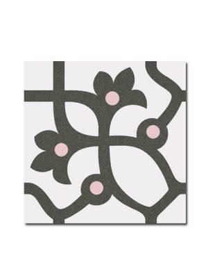 Pavimento imitación hidráulico Jujol Grafito 20x20 cm. Diseños del pasado con tecnología del presente, azulejo para paredes y suelos.