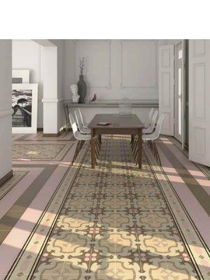 Pavimento imitación hidráulico Roura-3 20x20 cm. Diseños del pasado con tecnología del presente, azulejo para paredes y suelos.