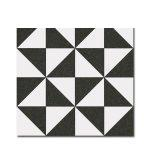 Pavimento imitación hidráulico Terrades Grafito 20x20 cm. Diseños del pasado con tecnología del presente, azulejo para paredes y suelos.