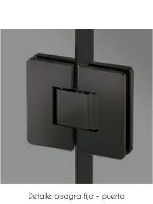 Mampara de ducha bisagra 180º Selecta Sport negro mate .