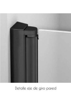 Mampara de ducha plegable Palau Sport perfil negro antical .