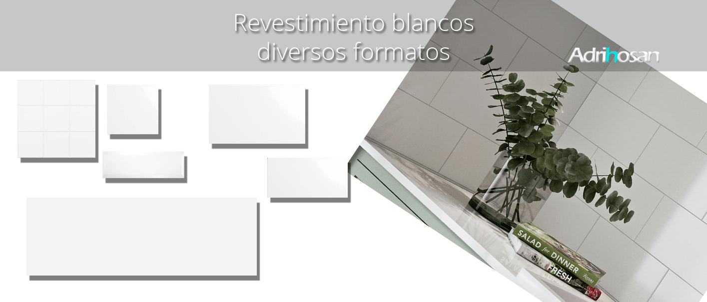 Azulejo liso blanco brillo. El clásico azulejo para decoraciones retro o vintage o incluso modernas o minimalistas. Primera calidad.