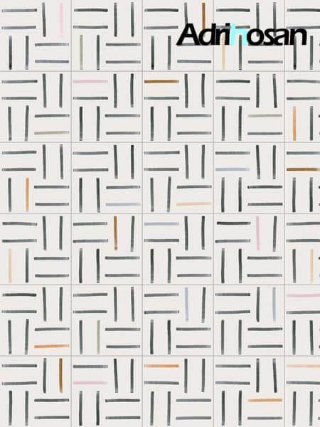 Pavimento porcelánico Maori Banna 20x20 cm. Una serie de azulejos efecto hidráulico.