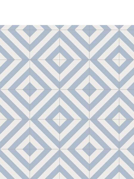 Pavimento porcelánico Maori Goroka Cielo 20x20 cm. Una serie de azulejos efecto hidráulico.