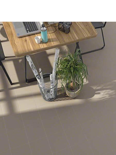 Pavimento porcelánico Vodevil Humo 20x20 cm. Una serie de azulejos efecto hidráulico.